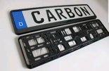 Carbon-kenteken-plaat-houders-2-stuks
