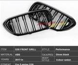 BMW G30 glans grille dual slat_