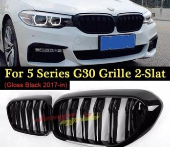 BMW G30 glans grille dual slat