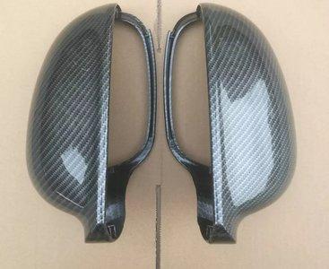 Spiegelkappen carbon voor volkswagen golf 5